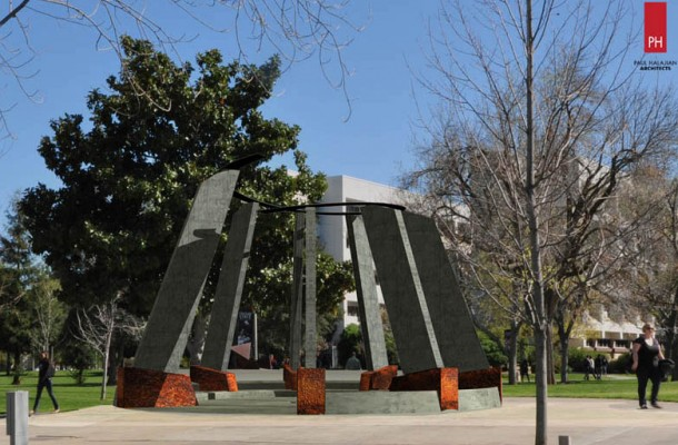 Rendering of Fresno State Genocide Monument